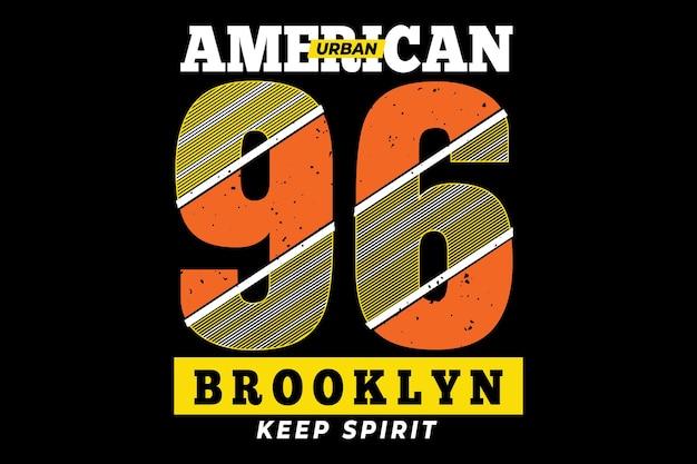 Typographie américaine de brooklyn