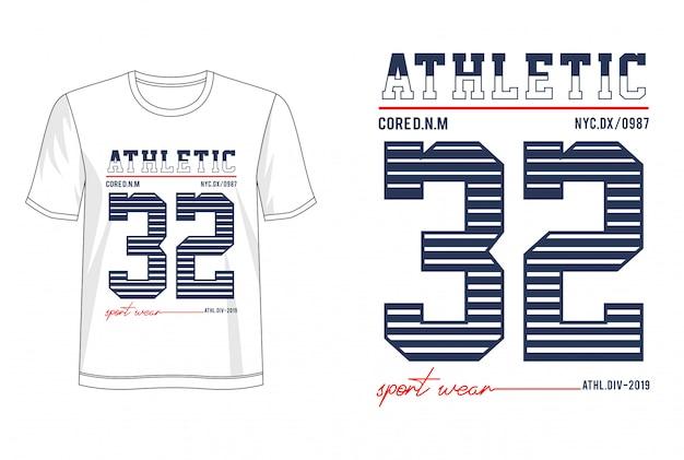 Typographie athletic 32 pour t-shirt imprimé
