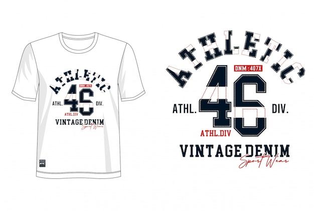 Typographie athlétique pour t-shirt imprimé
