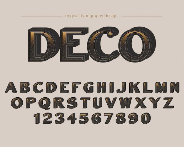 Typographie audacieuse de style art déco