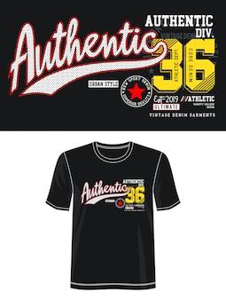Typographie Authentique Pour T-shirt Imprimé Vecteur Premium
