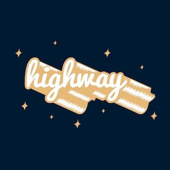 Typographie autoroute