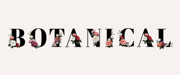 Typographie botanique florale