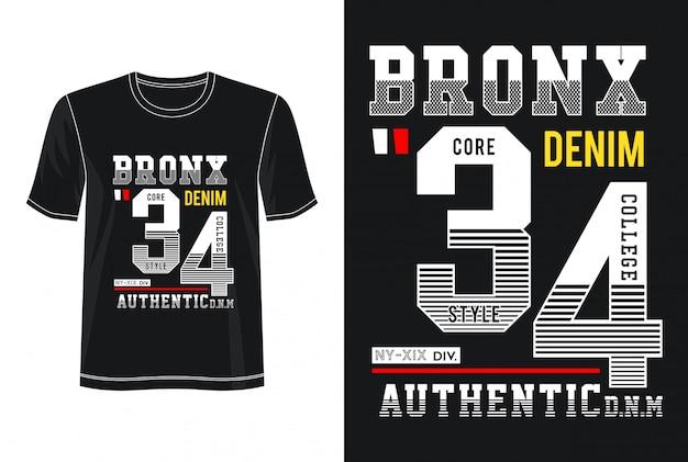 Typographie bronx 34 pour t-shirt imprimé