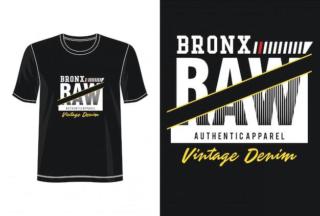 Typographie bronx pour t-shirt imprimé