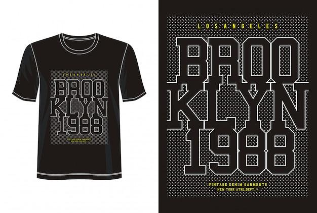 Typographie de brooklyn 1988 pour t-shirt imprimé