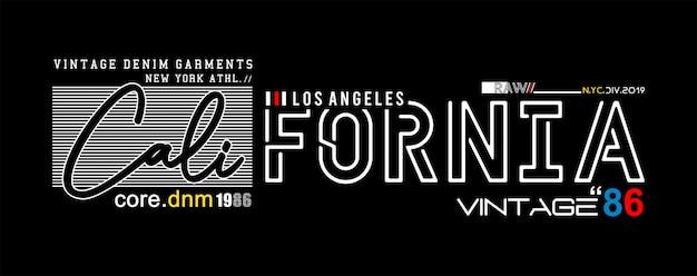 Typographie californie pour t-shirt imprimé