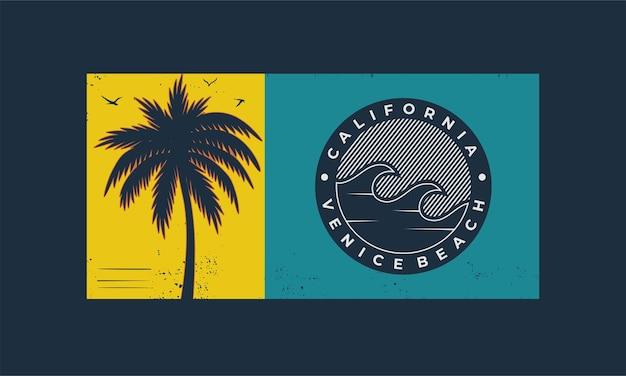 Typographie californienne pour t-shirt imprimé