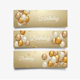 Typographie de célébration joyeux anniversaire pour bannière de voeux