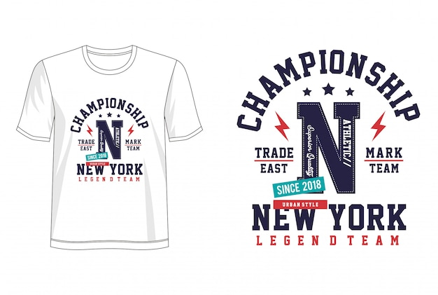 Typographie de championnat pour t-shirt imprimé