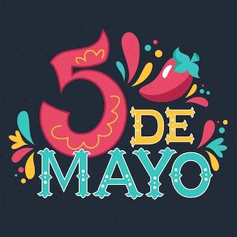 Typographie cinco de mayo