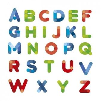 Typographie colorful