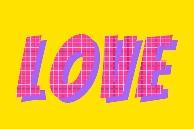 Typographie de commentaire de mot d'amour