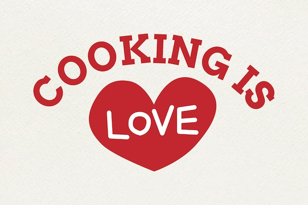 Typographie cooking is love