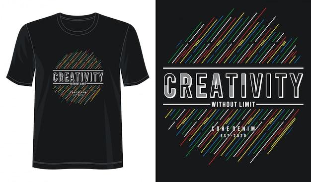 Typographie de créativité pour t-shirt imprimé