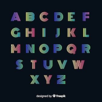 Typographie dégradé coloré