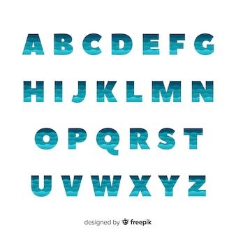 Typographie dégradé monochrome