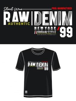 Typographie denim 99 pour t-shirt imprimé