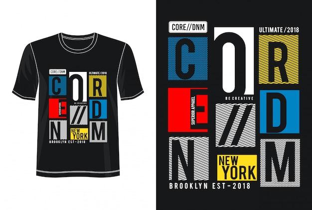Typographie de denim de base pour t-shirt imprimé