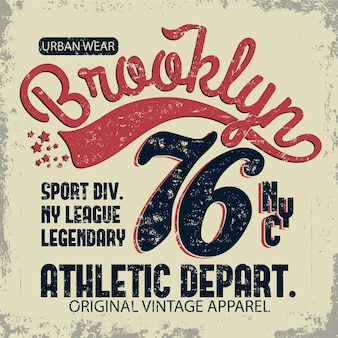 Typographie de denim, brooklyn new york