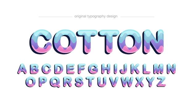 Typographie de dessin animé arrondi coloré