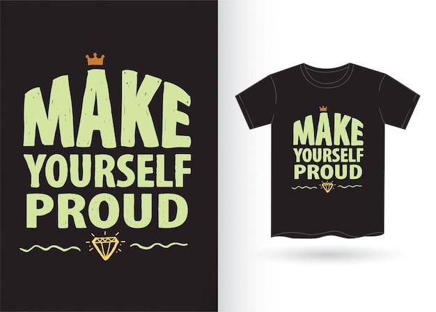 Typographie dessinée à la main pour t-shirt