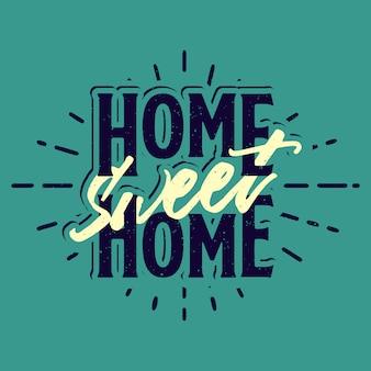 Typographie douce maison