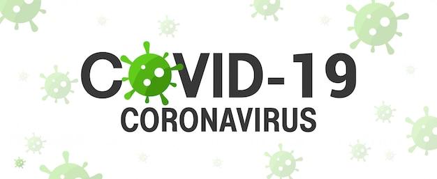 Typographie du coronavirus covid-19