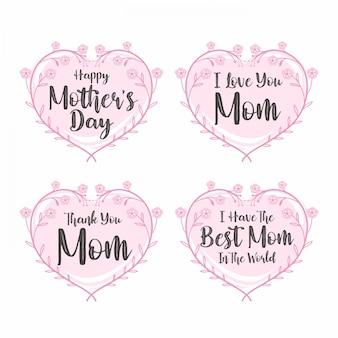 Typographie du texte de la fête des mères