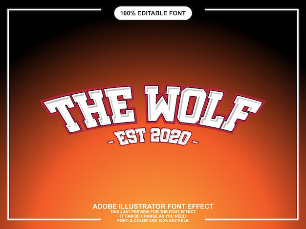 Typographie éditable éditable de style graphique classique osé fort