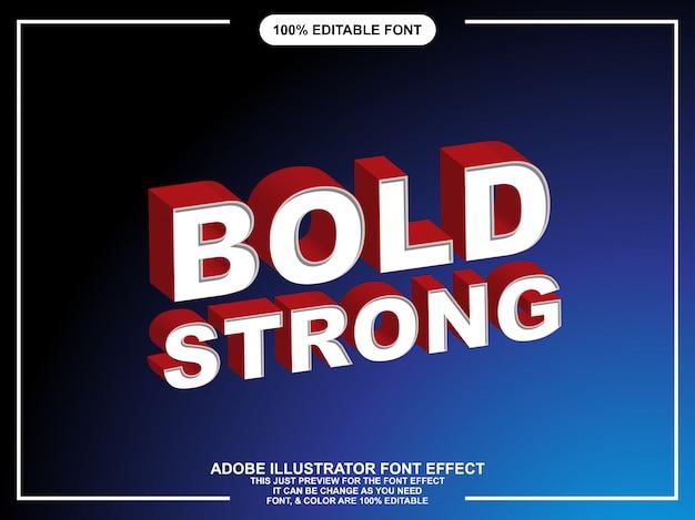 Typographie éditable forte de style graphique audacieux