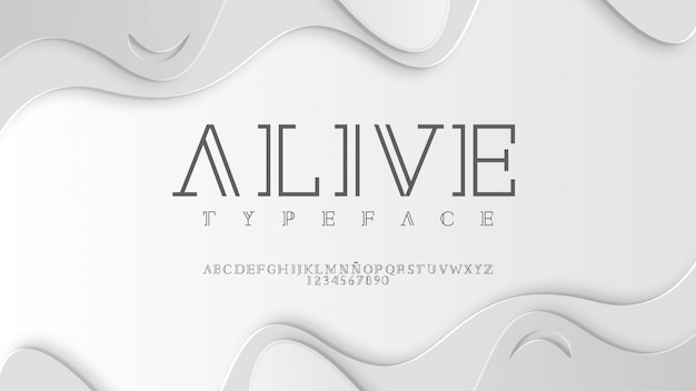 Typographie élégante aux finitions classiques