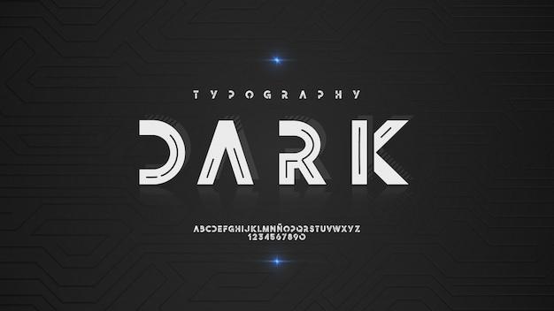 Typographie élégante avec effet brillant