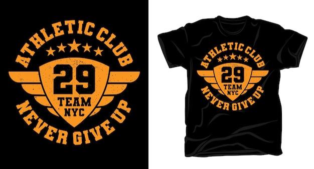 Typographie de l'équipe athletic club vingt-neuf pour la conception de t-shirts