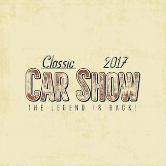 Typographie d'exposition de voitures anciennes
