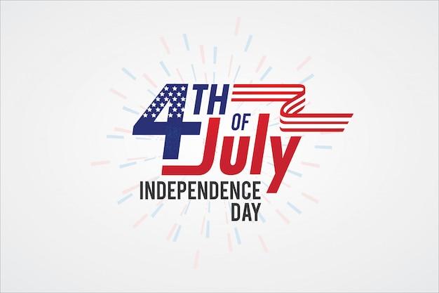 Typographie fête de l'indépendance de l'amérique