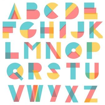 Typographie de formes abstraites colorées