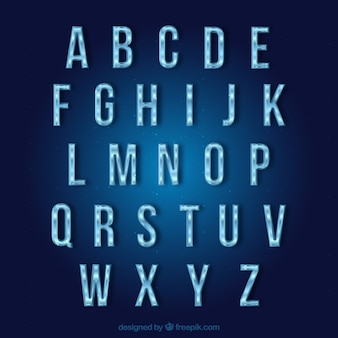 Typographie frozen