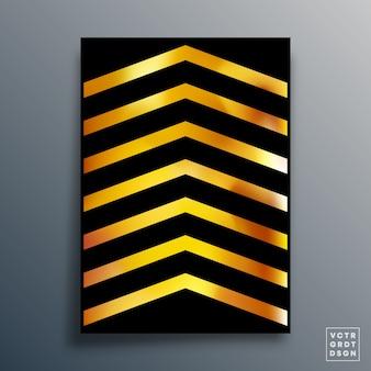 Typographie géométrique abstraite avec conception de texture dégradée