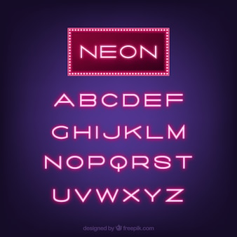 Typographie grand néon