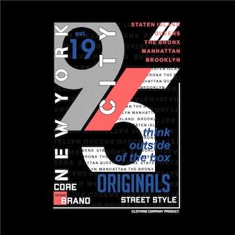 Typographie graphique de cadre de texte de new york city bonne pour l'impression de t-shirt