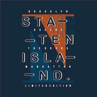 Typographie graphique de conception staten island