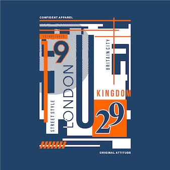 Typographie graphique londonienne pour t-shirt design et autres usages
