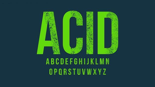 Typographie green grunge majuscule