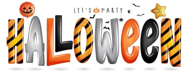 Typographie d'halloween pour le jour d'halloween avec illustration aquarelle