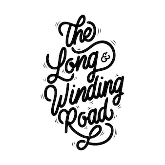 La typographie de handlettering de long and winding road