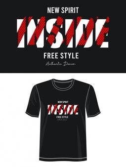 Typographie intérieure pour t-shirt imprimé
