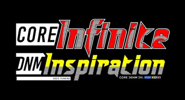 Typographie d'isolation infinie pour t-shirt imprimé