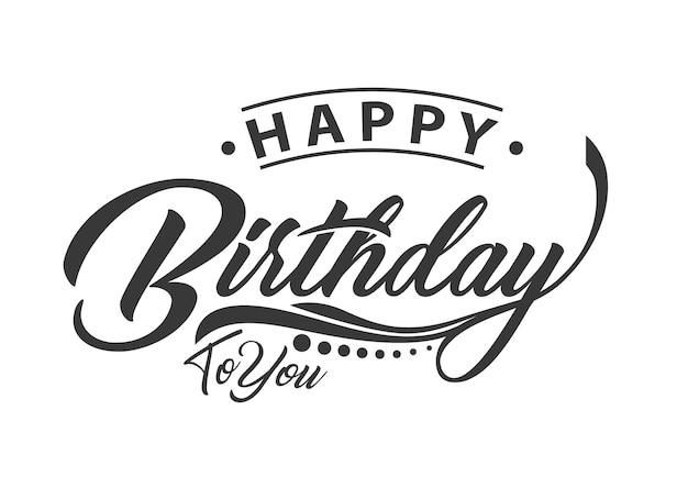 Typographie joyeux anniversaire