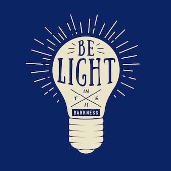 Typographie avec lampe